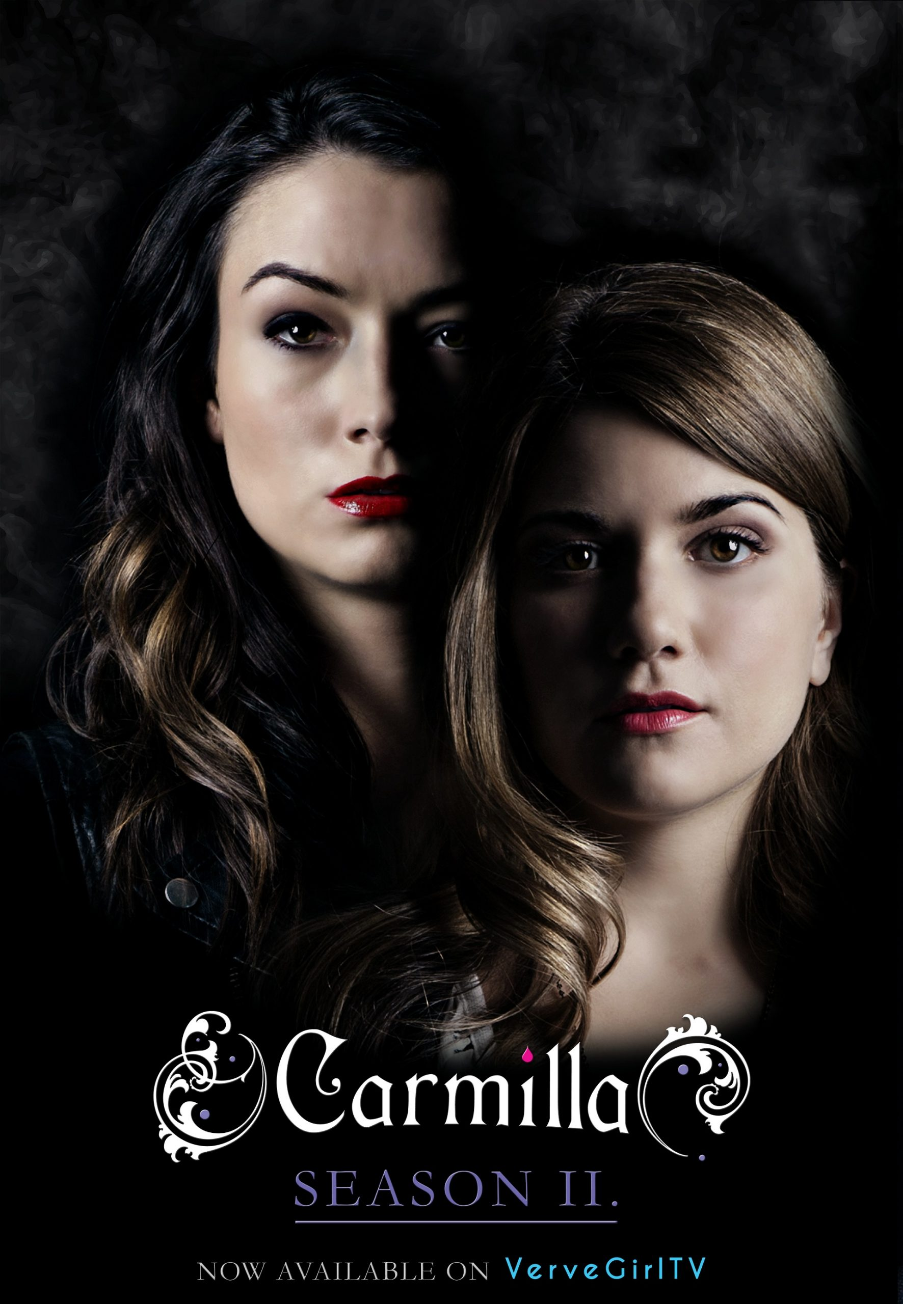 poster avec Laura et Camille, ambiance gothique
