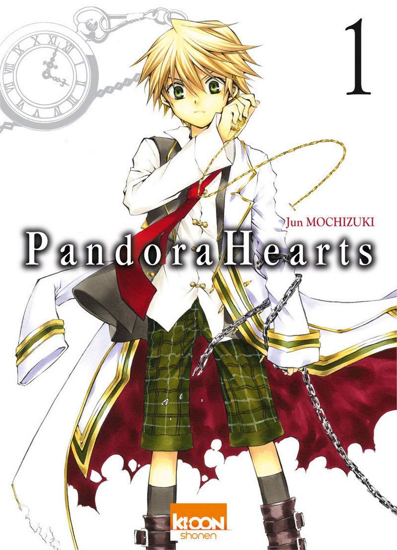 couvertures de Pandora Hearts tomes 1, 3, 7 et 14 de Jun Michizuki
